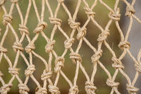 Abstract design of newly knotted cord or twine making a fishing net
