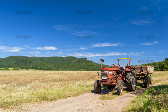 Tractor on a dirt road