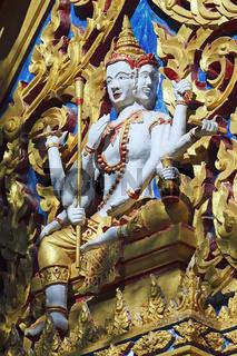 mehrgesichtiger Buddha,  Wat Chalong, größter Tempel auf Phuket,