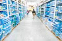 Market shop and supermarket interior