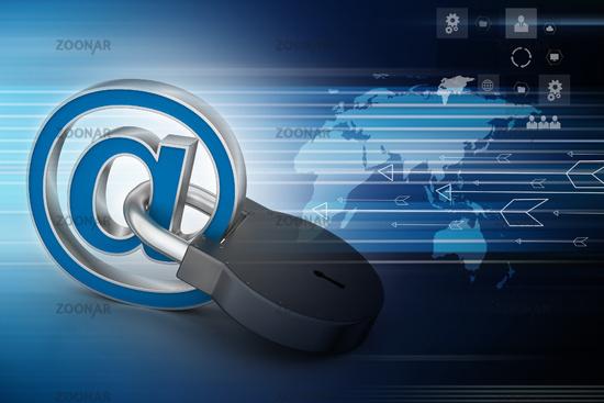 Internet security concept