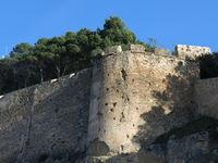 Ancient wall surrounding the Castillo de Denia, Spain
