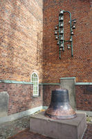 Protestant Epiphany church - Bells play and old bell