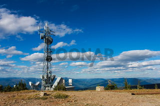 GPS Tower on the top of a mountain in Creston Valley, Kootenays, BC
