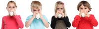 Gruppe Kinder trinken Milch Glas gesunde Ernährung Junge Mädchen Freisteller freigestellt isoliert
