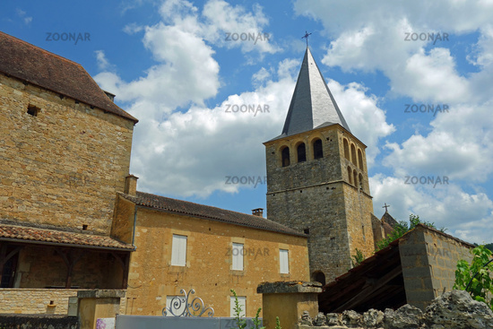 Parish church of Saint-Jean-Baptiste in Saint Pompont France