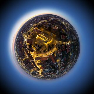 little planet of Sindelfingen by night