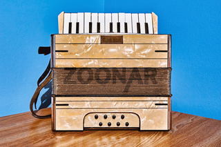 Old Accordion on the Table