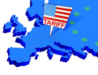 United States tariffs on Europe as protectionist trade