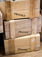 Wooden boxes for fragile things, Fragile