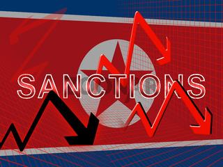 Usa Economic Sanctions Against North Korea 3d Illustration