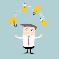 Businessman Idea Juggling