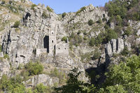 Medieval castle in the village of Borne, Ardeche, France