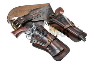 Cowboy Holster And Revolver