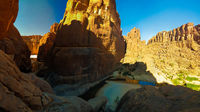 Panorama inside canyon aka Guelta d'Archei in East Ennedi, Chad