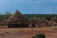Hamer tribe village