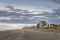 Nieuwpoort, Belgium - November 14,02019: Skyline of Nieuwpoort Bad photographed from the beach