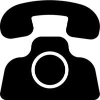 Phone icon in trendy flat style isolated on white background