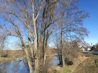 Sunny winter day in the Zschopau valley in Saxony, Germany