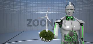 Eco Robot Wind Turbine