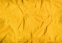 yellow crumpled paper texture background