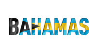 bahamian flag text font