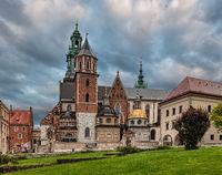 The Wawel Royal Castle in Krakow, Poland