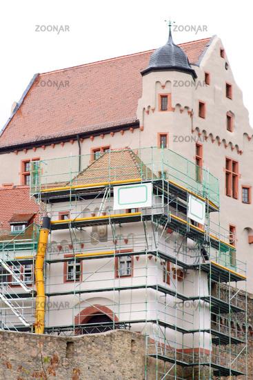 Construction works Alzenau Castle