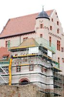 Construction works Alzenau Castle