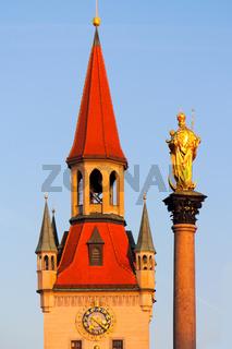 Altes Rathaus und Mariensäule
