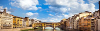 View of the Ponte Vecchio in Florence Tuscany Italy