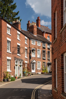 Pretty Georgian street and homes in Shrewsbury