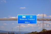 motorway intersection frankfurt