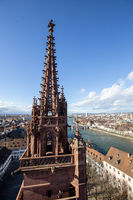 View from top of Basel Minster, Switzerland