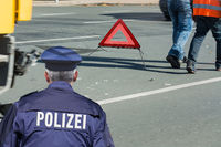 German police barrier tape