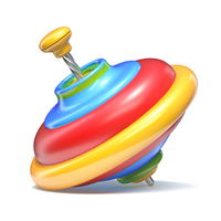Whirligig top toy 3D