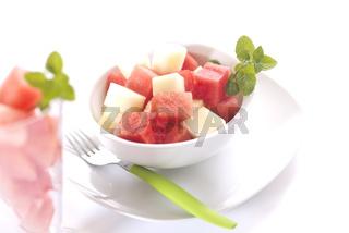 Wassermelone gewürfelt