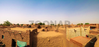 Exterior aerial view to Grand mosque of Agadez in Niger