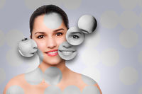 Beauty woman face skincare concept