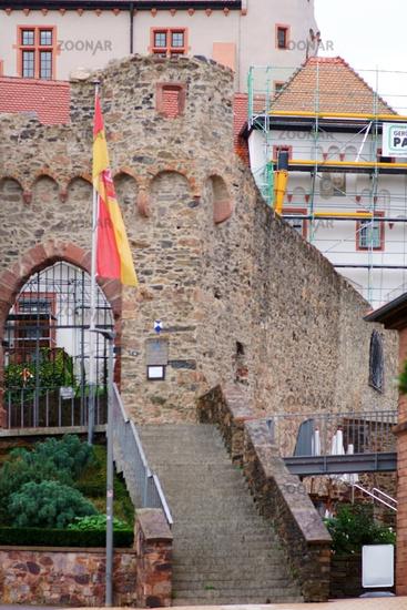 Iron gate entrance castle Alzenau
