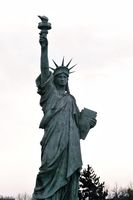 A copy of the Statue of Liberty