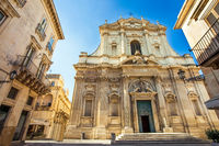 At the church Chiesa di Sant'Irene in Lecce Apulia Italy