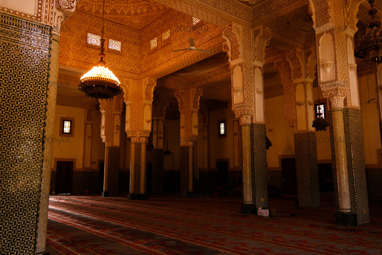 Interior of Niamey Grand mosque in Niamey, Niger