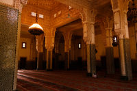 Interior of Niamey Grand mosque in Niamey, Niger