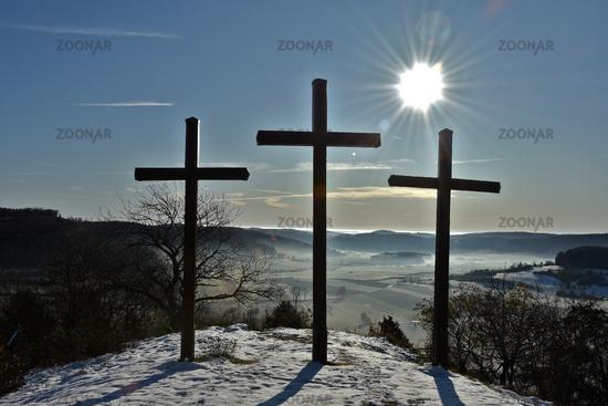 Three Crosses on the Kornbühl, Swabian Alb