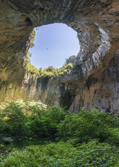 Devetashka cave in Bulgaria