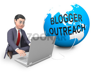 Blogger Outreach Influencer Engagement Content 3d Rendering
