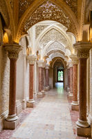 Palace Monserrat in Sintra, Portugal. building with exquisite Moorish architecture