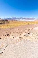 Chile Atacama desert panoramic view of red rocks