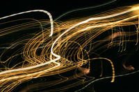 Night city street lights background and street lights blur bokeh,Colorful circles of light abstract